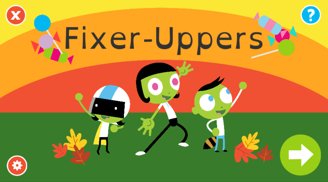 Fixer-Uppers Title Screen